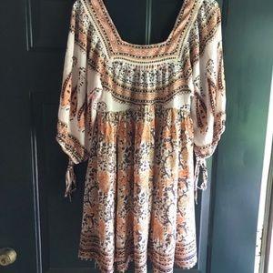 Free People Boho blouse mini dress size XS or S